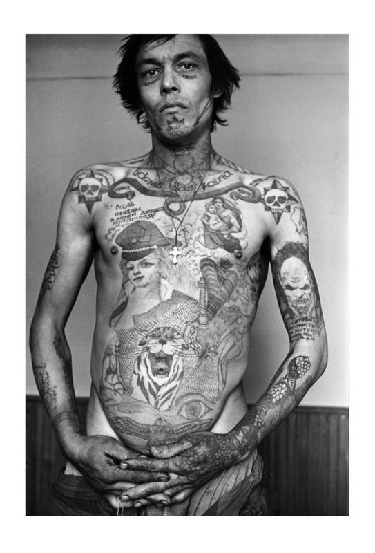 Russian Criminal Tattoo Encyclopaedia Postcards 6844